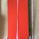 キャスター付きスチールシェルフ(赤い板)