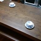 天然パイン材ダイニングテーブルセット(ベンチ椅子)