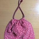 ハンドメイド 巾着 (縦21cm×横25cm)