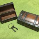 宝箱風の箱2個【写真upしました】