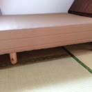 【美品】シングルベッド脚あり2つ、なし2つ。