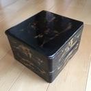 再値下げ 昭和レトロ 木製二段重 (伝統工芸品)