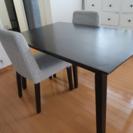 ダイニングテーブル☆椅子付き2脚