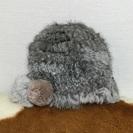 ラビットファー帽子