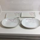 オーバルと長方形のお皿 物々交換
