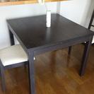 【無料】テーブル+椅子2脚(IKEA)
