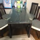ガラステーブル&椅子4点