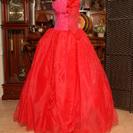 Dress Blackの箱入りウェディングドレス カラードレス 赤...