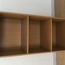 木製3段カラーボックス