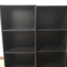 黒のカラーボックス 2台