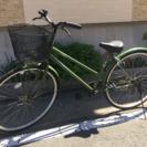 【セール】27インチ 自転車 緑