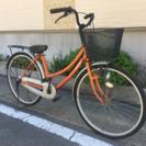 【セール】26インチ自転車オレンジ