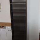 収納棚 縦長(175cm 6段) 小スペースで収納能力大 ダークブ...
