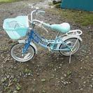 14インチ女の子向け?子ども用自転車水色