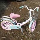 16インチ女の子向け。子ども用自転車ピンク