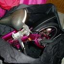 中古ツインドランゴ16インチ6段変速、泥除け収納バッグ付き