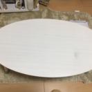 1000円!白色丸型ローテーブル