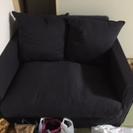 【取引中】IKEA二人ソファーブルー