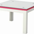 正方形ガラステーブル
