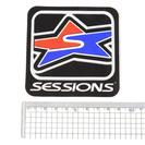 ステッカー SESSIONS セッションズ 9×9cm スノーボー...