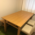 actus ダイニング4点セット(テーブル、ベンチ、椅子2脚)