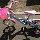 女児用自転車。14インチ。ピンク。