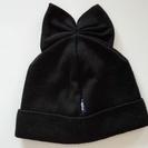 Federicamoretti Blu リボン付きニット帽(ブラック)