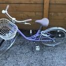 子供用自転車 22インチ ラベンダーカラー