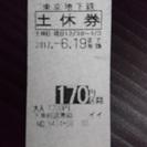 東京メトロ(東京地下鉄)170円区間 土休回数券 6/19まで有効