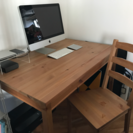 (中古)IKEA 木製デスク+チェア