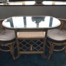 ラタンテーブルセット