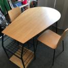 スイートデコレーション購入 食卓テーブル 2人用 棚付
