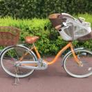前乗せチャイルドシート付き子供乗せ自転車