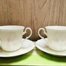 NORITAKE Flo's コーヒーカップ2客セット(未使用)
