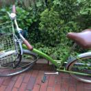 【一旦休止中】26インチ自転車 緑