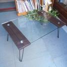 折りたたみテーブル ローテーブル ガラス