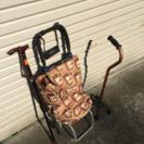 シルバーカー・高齢者用手押し車 乳母車 杖セット