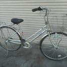 26インチ3段ギア 銀色 有名なマルイシの自転車