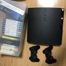 【中古】PS3本体1台+コントローラー2個+ソフト17本【まとめて】