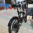 【整備済】20インチ  ハマー 折り畳み自転車 後タイヤ新品