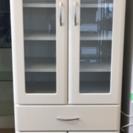 <美品>食器棚 キッチンボード ホワイト系