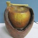 【つくばい】電動水循環式◆ミニ◆卓上◆柄杓付き◆陶器型◆和◆インテリア