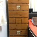 【無料】木製チェスト/タンス/引出し/縦置き横置き両対応
