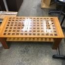 ローテーブル センターテーブル 木製ガラステーブル