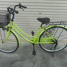 27インチ パールイエローイッシュライトグリーン 普通の自転車