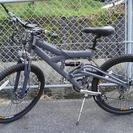 マウンテンバイク エアサス 24段ギア ディスクブレーキ アルミフレーム