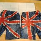 子供 ジーンズパンツ 半ズボン 90×2着セット バックはイギリス...