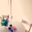 【美品】ダイニング テーブル&椅子4脚 IKEA