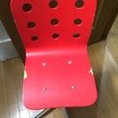 IKEA 赤いチェア