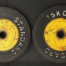 15kgトレーニング用プレート2枚(ラバープレート)